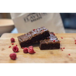 RASPBERRY AND DARK CHOCOLATE BROWNIE.  GLUTEN FREE